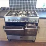 double range oven cleaned