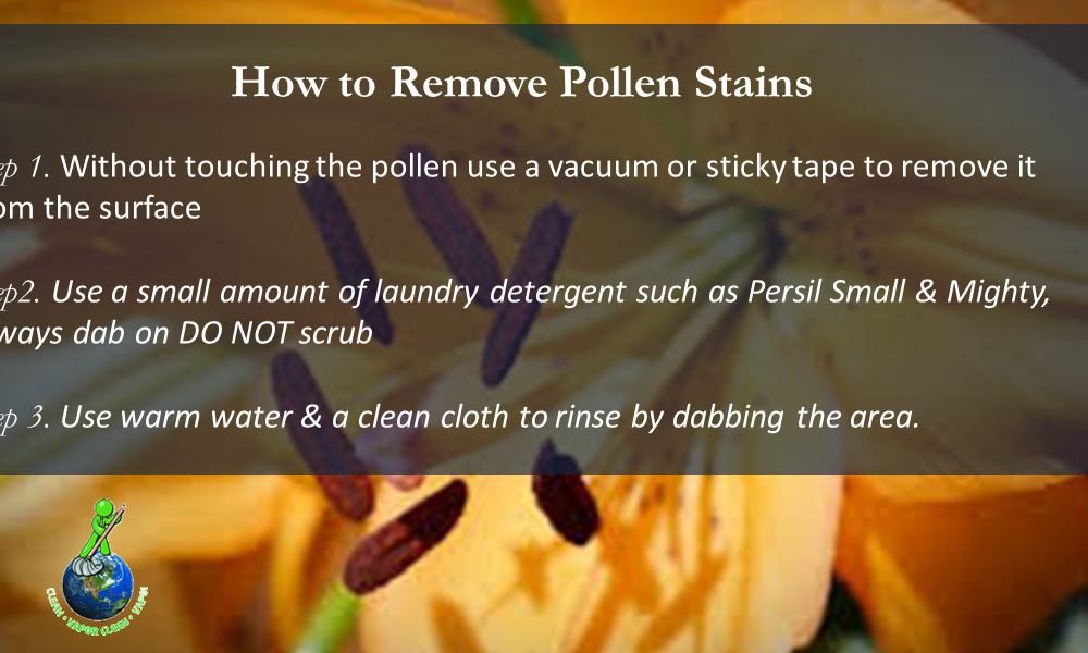How to Remove Flower Pollen Stains from carpets