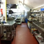 large comercial kitchen cleaning
