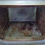 oven clean before